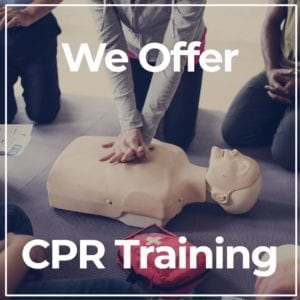 We Offer CPR Training Title Image