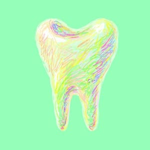Colorful Drawing of Wisdom Tooth